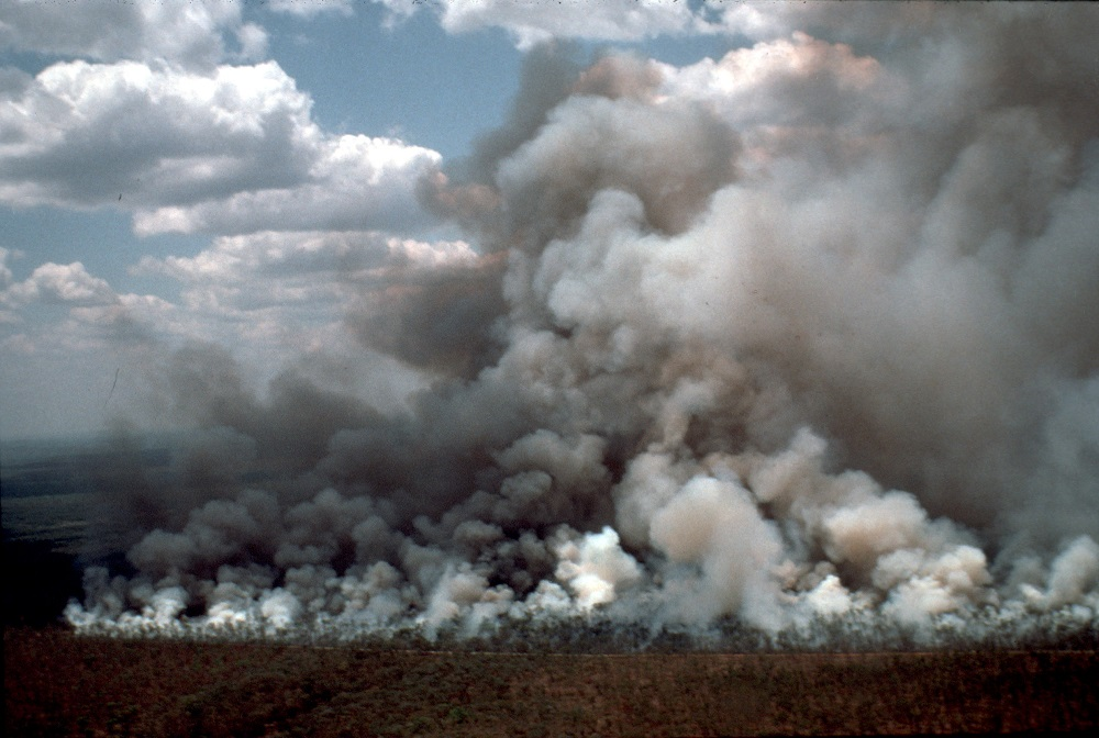 A picture of a fire.