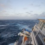 RV Investigator in rough weather in the Southern Ocean (image MNF+Pete Harmsen)LR