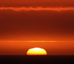 The sun setting on the Southern Ocean