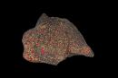 3D graphic of meteorite