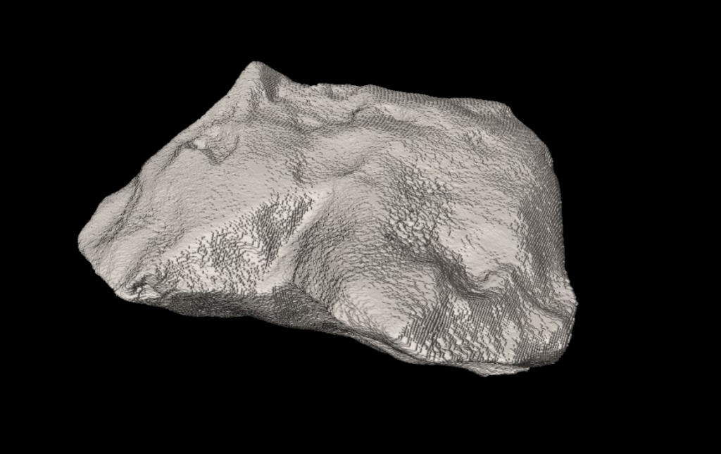3D graphic of meteorite