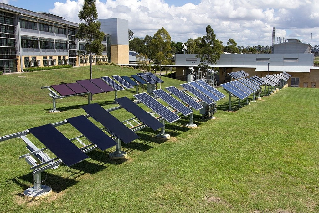 Solar PV panels undergo tests at our Energy Centre in Newcastle.