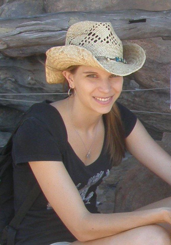 A smiling Stefanie Oberprieler