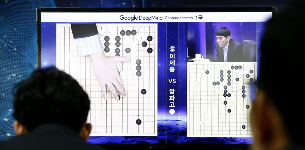 South Koreans watch the historic match between South Korean Go champion Lee Se-dol and the AlphaGo, an artificial intelligence system developed by Google, at the Korea Baduk Association in Seoul, South Korea, 09 March 2016. One of Google's top computer programmes squared off against a human opponent for a five-round match of the boardgame Go on 09 March, in the latest development to pit artificial intelligence against human ingenuity. EPA/JEON HEON-KYUN