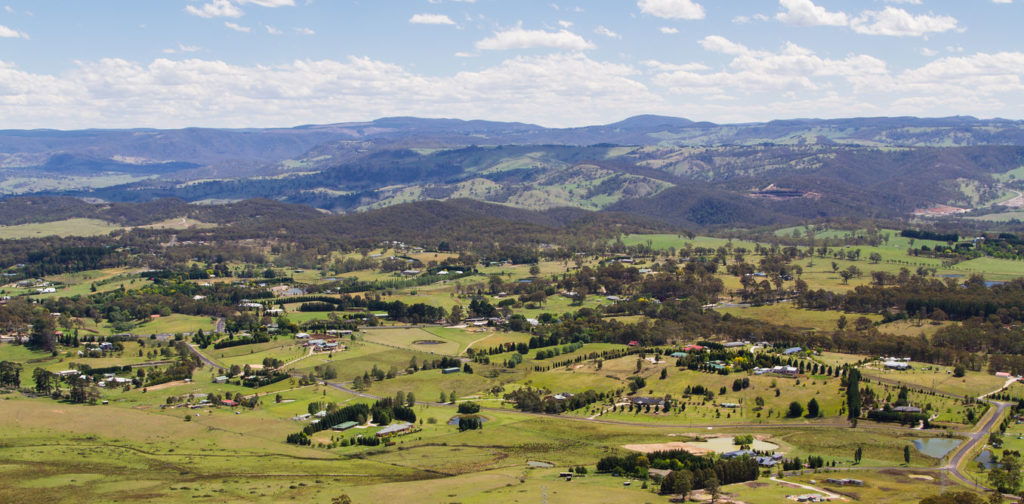 Rolling farmland of New South Wales
