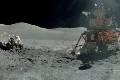 Apollo 17 in the Taurus-Littrow valley December 1972