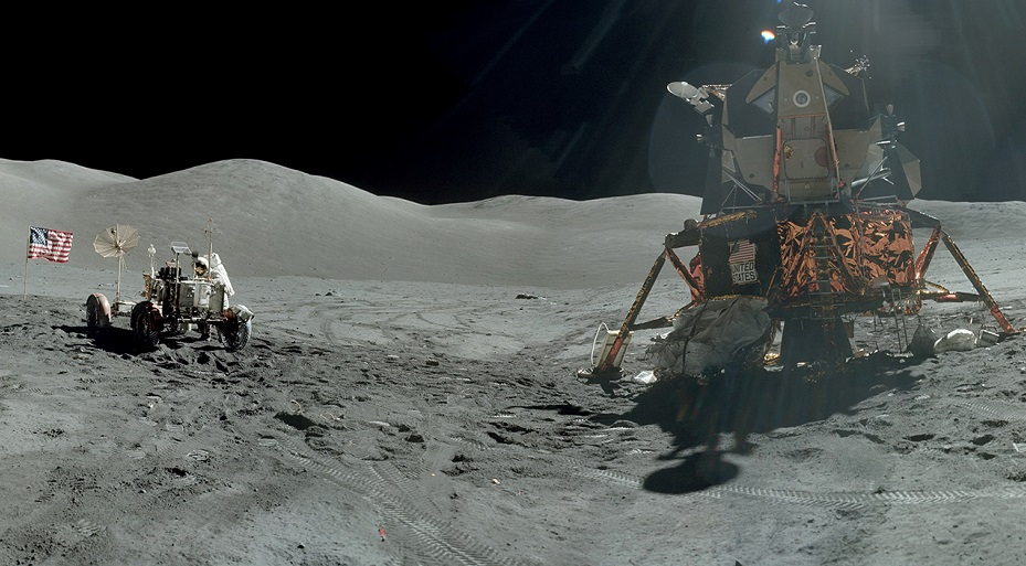 Apollo 17 in the Taurus-Littrow valley December 1972