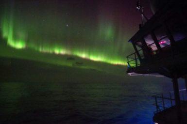 Aurora over Southern Ocean