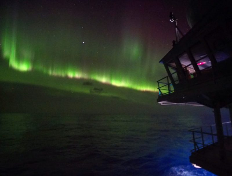 Aurora over Southern Ocean