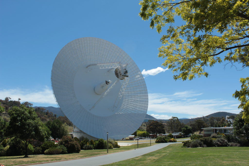 Deep Space Station 43 is the largest steerable antenna dish in the Southern Hemisphere.