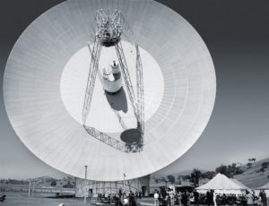 Caption: The newly operating 64 metre dish, Deep Space Station 43 in Canberra