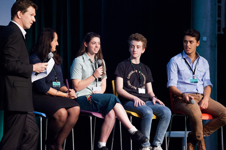 Younger people on a panel