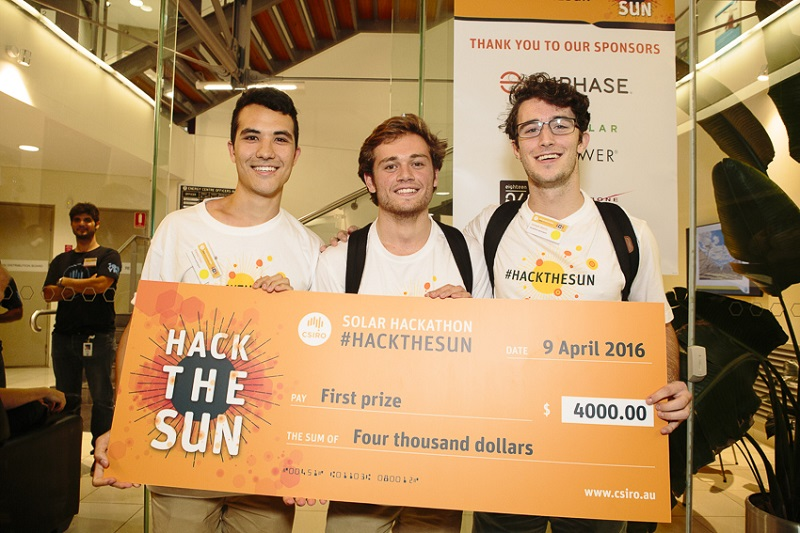 Hacking the sun to create innovative ideas: Take Charge take out first prize