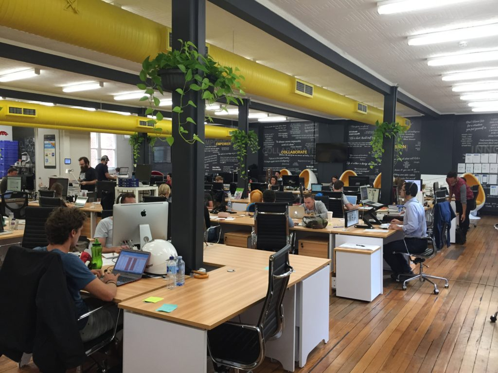 Inside Australia's largest co-working space. Image credit - Fishburners