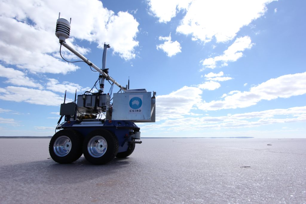 The 'Outback Rover', a prototype autonomous vehicle developed by CSIRO, helps to calibrate satellites.