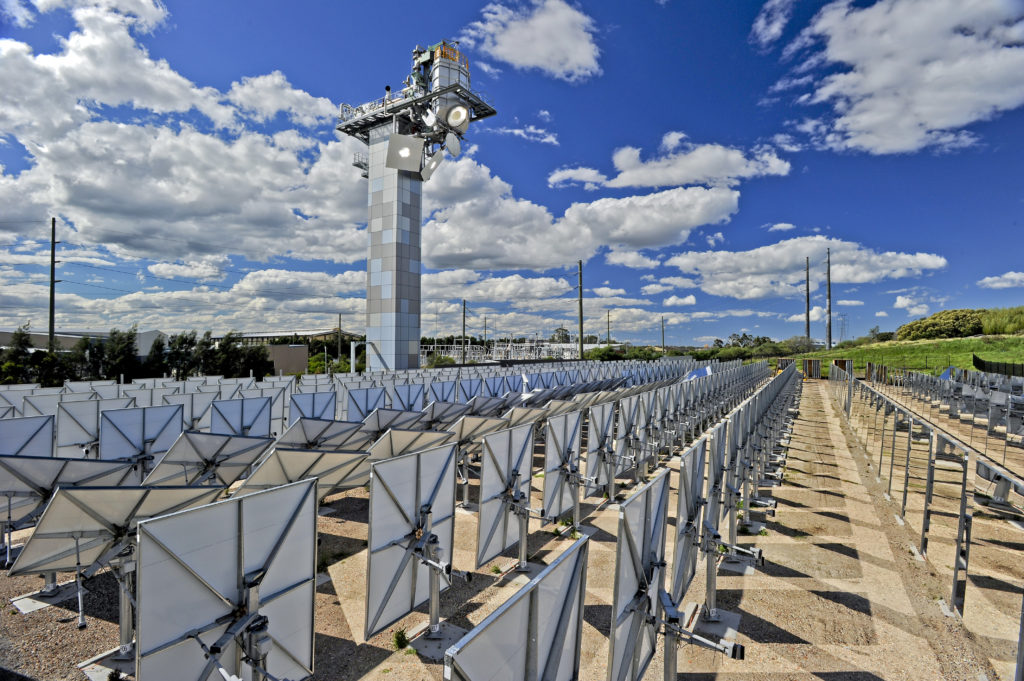 Our concentrating solar thermal research facility in Newcastle. Image credit - CSIRO