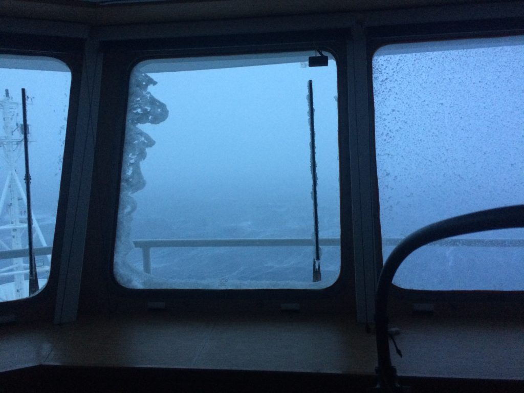 Winter is definitely coming! Another cold day on board the Investigator.
