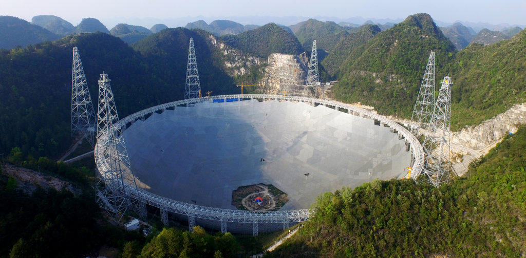 The 500-metre Aperture Spherical Telescope (FAST) is the largest single-dish radio telescope in the world. NAOC