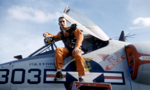 Gene Cernan in aviator uniform before becoming an astronaut.