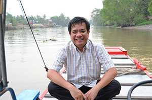Dr Minh Nguyen in the Mekong Delta, Vietnam.