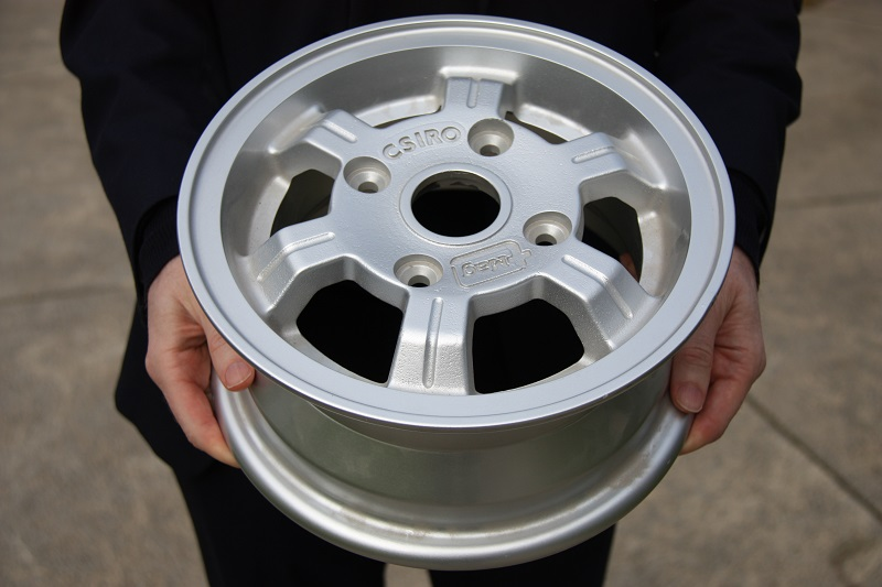 Our T mag magnesium casting technology was used to make this strong, light weight wheel rim; just one of a suite of magnesium technologies we have developed.
