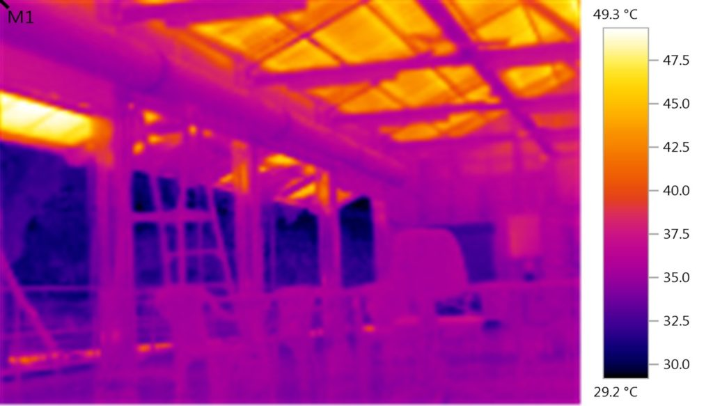 The colourful tropics: infared cameras set up in Far North Queensland confirm that there is a lack of low emissivity foil insulation in many remote work places