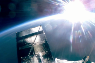 View of earth from the stratosphere