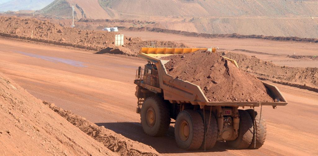 Haulage truck at the Rio Tinto West Angelas iron ore mine in the Pilbara region of West Australia Wednesday, July 9, 2014. (AAP Image/Alan Porritt).