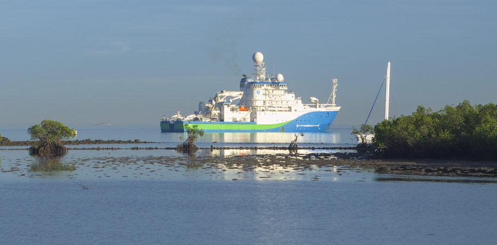 Investigator approaches Lautoka port in Fiji. Image Doug Thost.