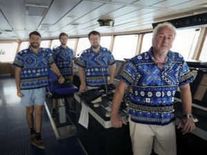 The Captain and crew have just come back from Fiji, you say? Who would have known! Image Doug Thost.
