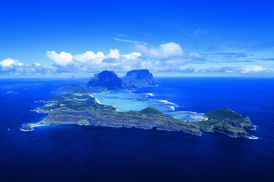 Aerial view Lord Howe Island