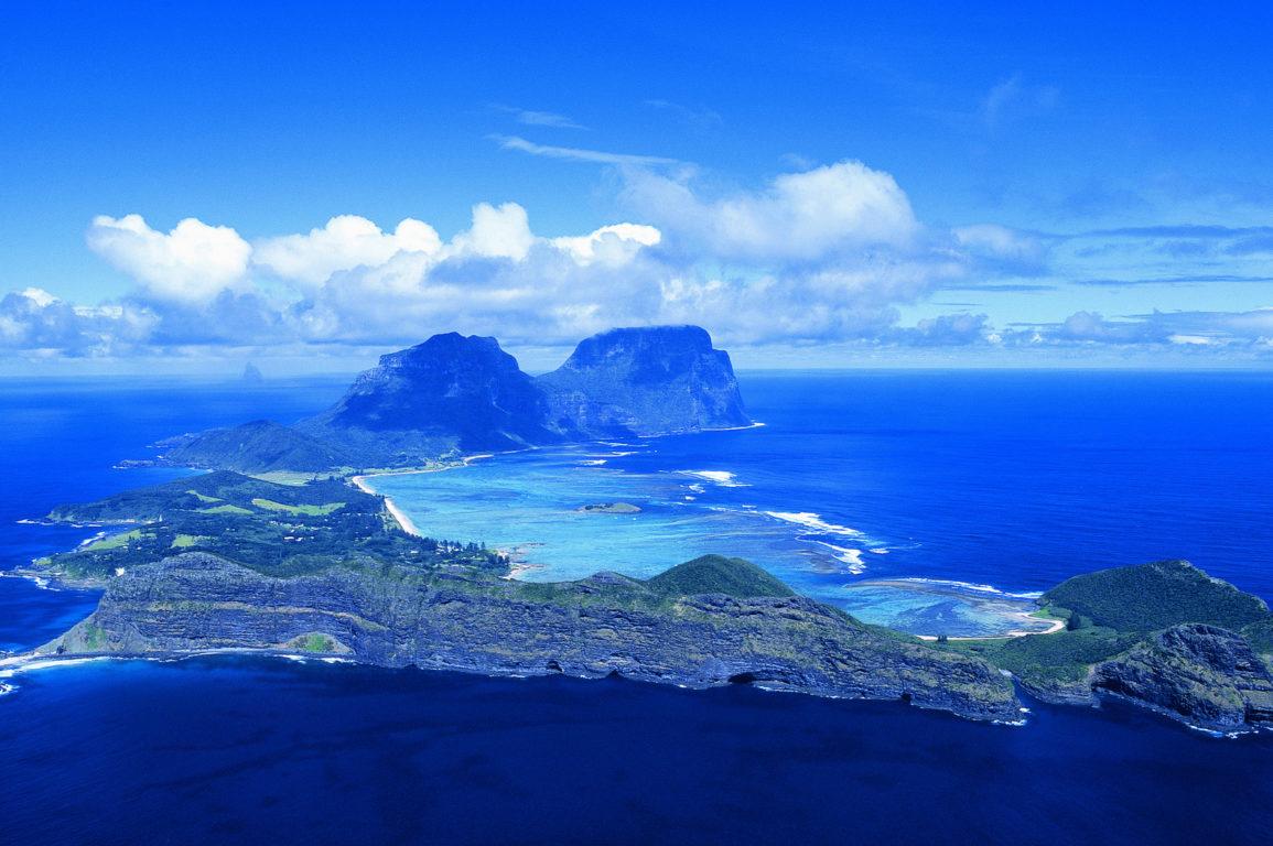 Lord Howe Island aeriel image
