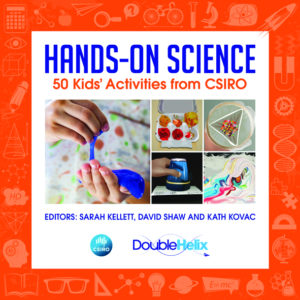 The cover of the Hands-on Science book