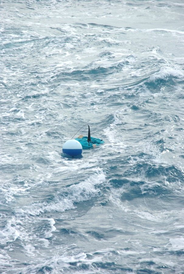 An ocean drifter used to track movement of water in the EAC. Image - Martina Doblin.