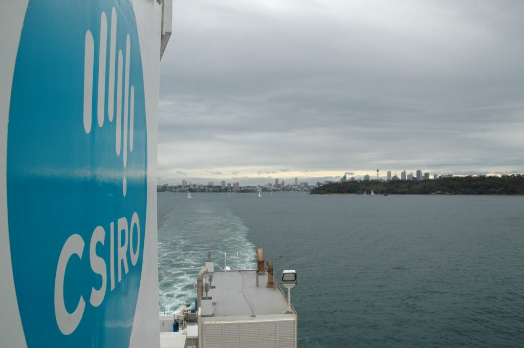 RV Investigator departs Sydney on another research voyage
