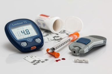 Diabetes blood glucose testing kit