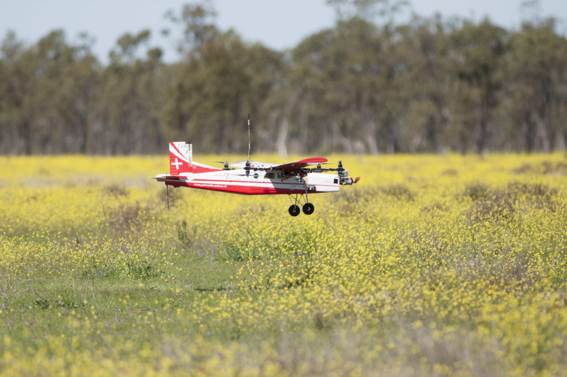 Canberra's UAV quad plane which successfully returned the blood sample during the Medical Express Challenge