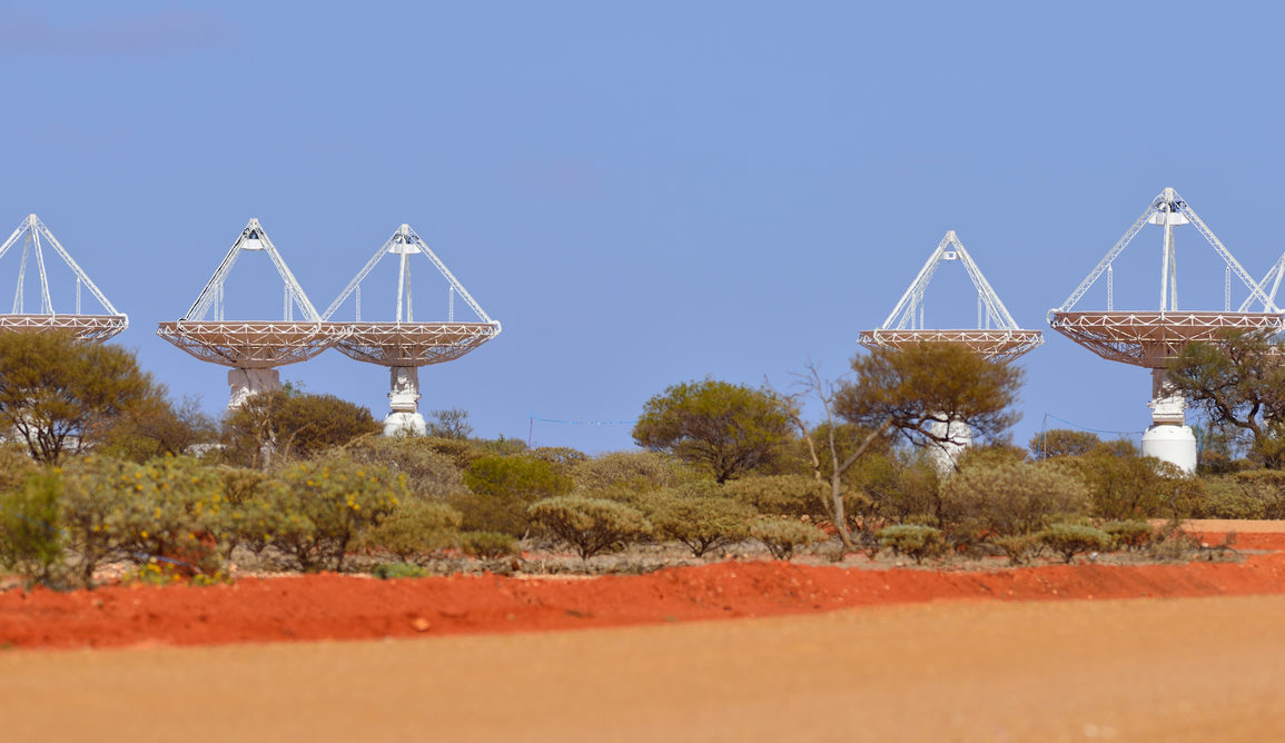 Part of CSIRO's ASKAP antennas at the Murchison Radio-astronomy Observatory (MRO) in Western Australia. Australian SKA Office/WA Department of Commerce, CC BY-ND