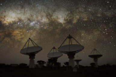 Milky Way shines over ASKAP.