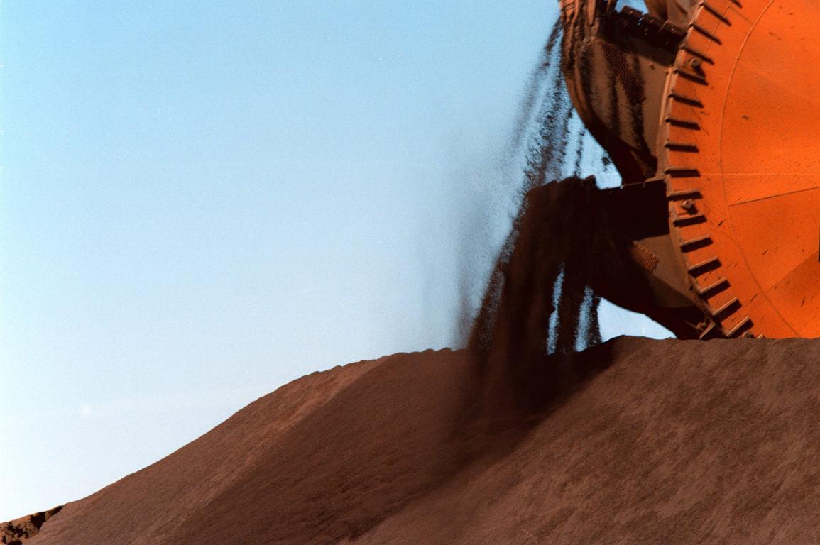 Mined iron ore