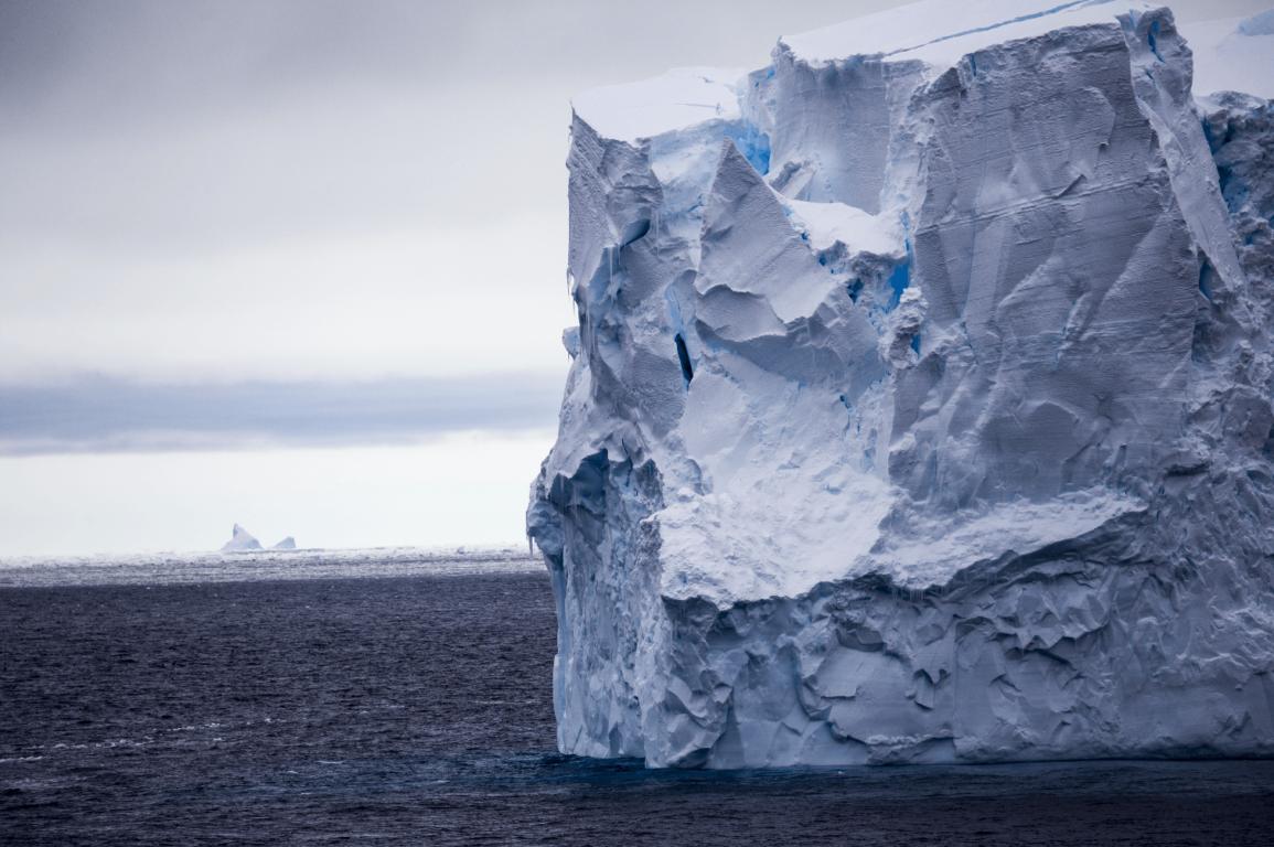 An iceberg in the sea