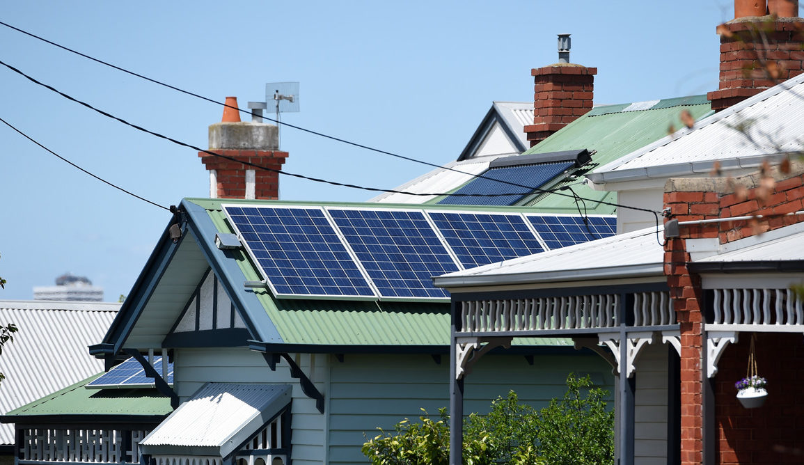 Some states are poised for a 500% growth in rooftop solar panels by 2030. AAP Image/Tracy Nearmy