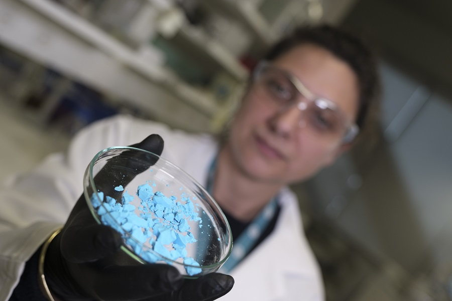 A scientist with MOFs