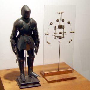 Model of a humanoid robot based on drawings by Leonardo da Vinci.