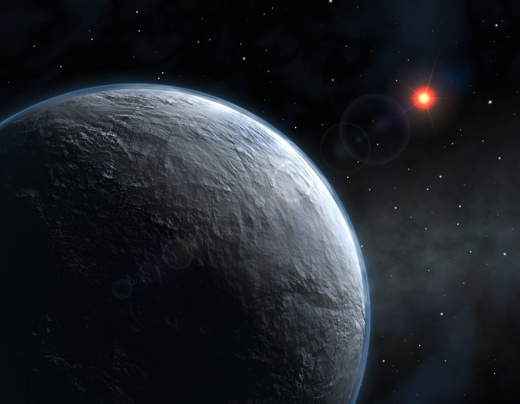 Icy Exoplanet (artist's impression)