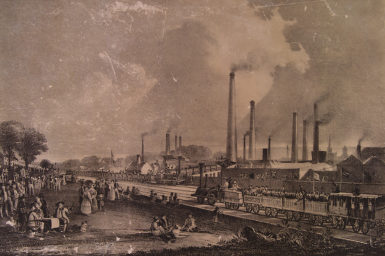 Illustration of industrial setting