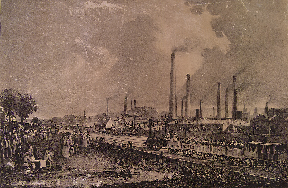 Illustration of industrial setting