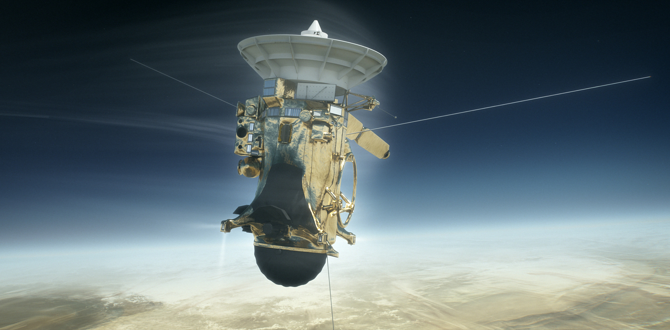 Cassini spacecraft illustration