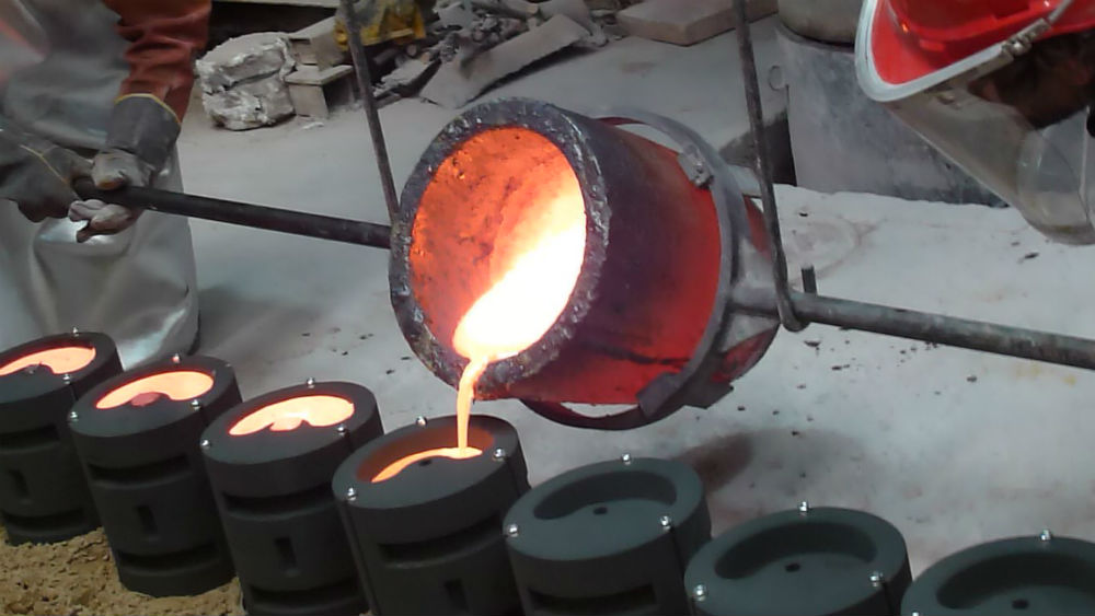 The moulds were cast with bronze at Melbourne's Meridian Sculpture Foundry.