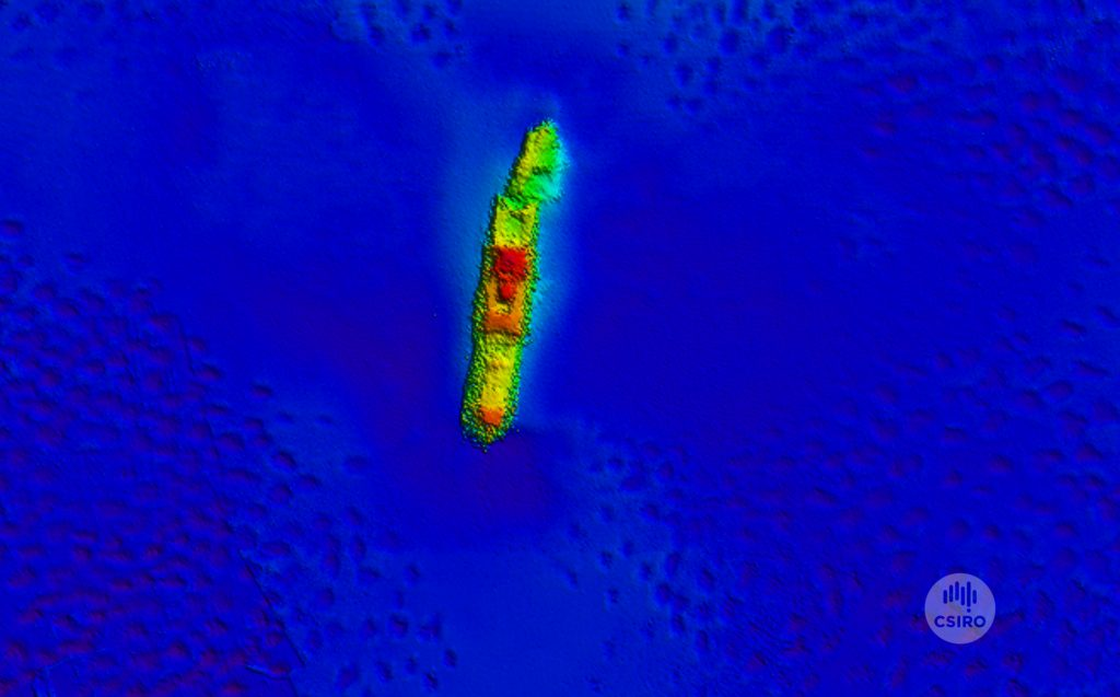 A 3D image of the Macumba shipwreck